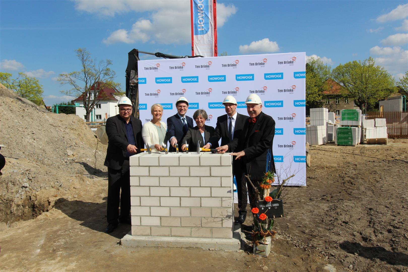 Grundsteinlegung Wohnbebauung Genslerstrasse